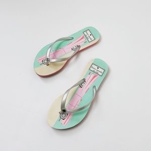 NWT Kate Spade Pink Car Sandals